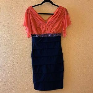 Formal Tiered Sequin Dress